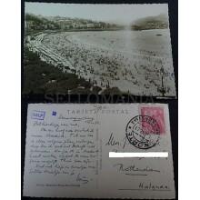 ANTIGUA POSTAL SAN SEBASTIAN 1951 PLAYA DE LA CONCHA GUIPUZCOA POSTCARD  CC03549