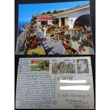 POSTAL TENERIFE CAFE VISTA PARAISO SANTA URSULA ISLAS CANARIAS POSTCARD  CC03665