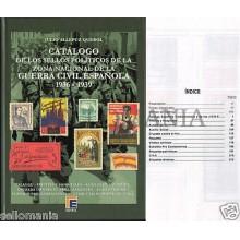 CATALOGO EDIFIL SELLOS POLITICOS GUERRA CIVIL ESPAÑOLA ZONA NACIONAL 1936 - 1939