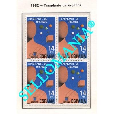1982 TRANSPLANTE DE ORGANOS ORGAN TRANSPLANTS EDIFIL 2669 ** MNH B4 TC21467