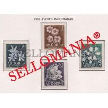 1966 FLORES DEL PRINCIPADO FLOWERS PLANTS  EDIFIL 68 / 71 ** MNH ANDORRA TC21842