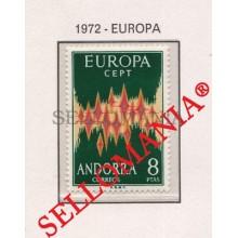 1972 EUROPA CEPT EUROPE ESTRELLAS STARS STAR    EDIFIL 72 ** MNH ANDORRA TC21843