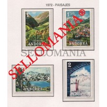 1972 PAISAJES LANDSCAPES TOURISM TURISMO  EDIFIL 73 / 76 ** MNH ANDORRA  TC21844