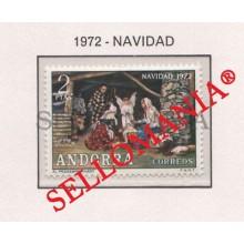 1972 NAVIDAD CHRISTMAS NATIVITY NACIMIENTO  EDIFIL 79 ** MNH ANDORRA TC21846