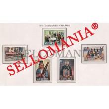 1972 COSTUMBRES POPULARES FOLKLORE MUSIC SINGERS  80 / 84 ** MNH ANDORRA TC21848