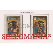 1973 NAVIDAD CHRISTMAS BIBLE NATIVITY NACIMIENTO  87 / 88 ** MNH ANDORRA TC21849