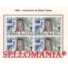 1982 SANTA TERESA DE AVILA SAINT THERESA OF AVILA  EDIFIL 2674 ** MNH B4 TC21469