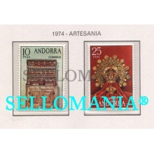 1974 ARTESANIA HANDICRAFT GLASS JEWELERY  91 / 92 ** MNH ANDORRA TC21851