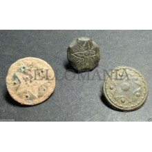 3 SMALL ANTIQUE BUTTON CENTURY XVIII OLD BOUTON BUTTON BOTON SEE MY SHOP CCB2