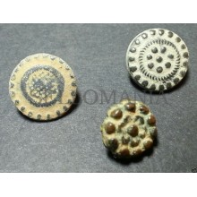 3 SMALL ANTIQUE BUTTON CENTURY XVIII OLD BOUTON BUTTON BOTON SEE MY SHOP CCB3