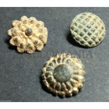 3 SMALL ANTIQUE BUTTON CENTURY XVIII OLD BOUTON BUTTON BOTON SEE MY SHOP CCB4