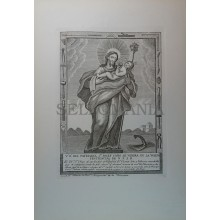 ANTIGUO GRABADO ANTIQUE ENGRAVED SAINT JOSEPH THE CARPENTHER END 18th CENTURY PRINT  0004GCDC
