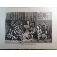 ANTIQUE ENGRAVED JAPAN YEAR 1876 A JAPANESE SCHOOL 19th CENTURY PRINT 007GCDC