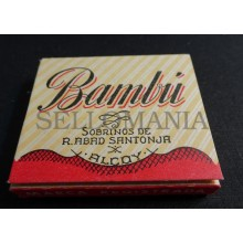 ANTIQUE CIGARETTE ROLLING PAPER BAMBU EARLY 1900 TOBACCIANA COLLECTIBLES  004CC