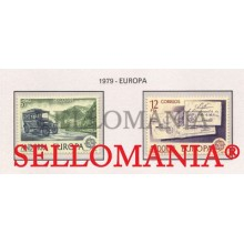 1979 EUROPA EUROPE COCHE CORREO POST CAR LETTERS 125 / 26 ** MNH ANDORRA TC21869