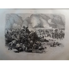 ANTIQUE ENGRAVED ABYSSINIA 1876 FIGHTER OF FAHLA 19th CENTURY PRINT 0033CC