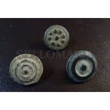 3 SMALL ANTIQUE BUTTON CENTURY XVIII OLD BOUTON BUTTON BOTON SEE MY SHOP CCB11