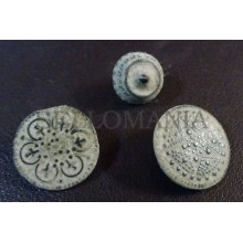3 SMALL ANTIQUE BUTTON CENTURY XVIII OLD BOUTON BUTTON BOTON SEE MY SHOP CCB13