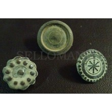 3 SMALL ANTIQUE BUTTON CENTURY XVIII OLD BOUTON BUTTON BOTON SEE MY SHOP CCB19