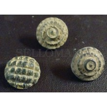 3 SMALL ANTIQUE BUTTON CENTURY XVIII OLD BOUTON BUTTON BOTON SEE MY SHOP CCB20