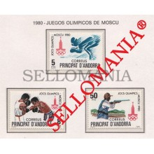 1980 JUEGOS OLIMPICOS MOSCU OLYMPIC GAMES MOSKOW 135 / 37 ** MNH ANDORRA TC21874