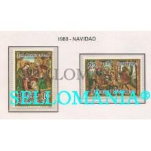 1980 NAVIDAD CHRISTMAS SANT ROMAN DES VILARS  138 / 39 ** MNH ANDORRA TC21875