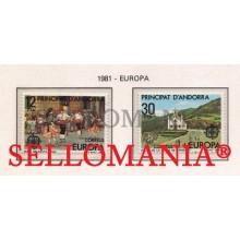 1981 EUROPA EUROPE DANCE BAILE SANTA ANA ROMERIA 140 / 41 ** MNH ANDORRA TC21876