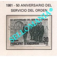 1981 SERVICIO DEL ORDEN POLICE POLICIA MILITARY  142 ** MNH ANDORRA TC21878