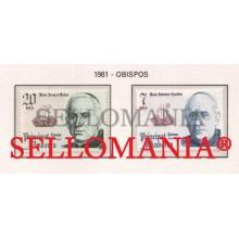 1981 OBISPO BISHOP CASAÑAS I PAGES DE BOLTAS 146 / 47 ** MNH ANDORRA TC21879