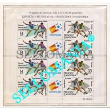 1982 MUNDIAL FUTBOL ESPAÑA 82 WORLD CUP FOOTBALL 161 ** MNH MP ANDORRA TC21883