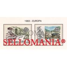 1983 EUROPA EUROPE IGLESIA MOLINO CHURCH WINDMILL 168  69 ** MNH ANDORRA TC21888