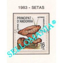 1983 NATURALEZA NISCALO NATURE MUSHROOMS SETAS   170 ** MNH ANDORRA TC21892