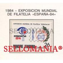 1984 EXPOSICION ESPAÑA 84 WORLD PHILATELIC EXHIBITION 178 ** MNH ANDORRA TC21896