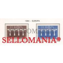1984 EUROPA EUROPE CEPT PUENTES BRIDGES  179 / 80 ** MNH ANDORRA TC21897