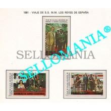 1981 VIAJE REYES TRAVEL KINGS SPAIN  27 / 29 ** MNH GUINEA ECUATORIAL TC21929