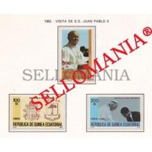 1982 JUAN PABLO II POPE JOHN PAUL II  32 / 34 ** MNH GUINEA ECUATORIAL TC21932