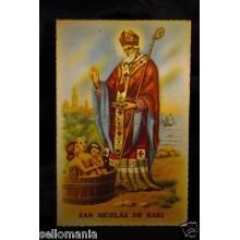 ANTIGUA POSTAL SAN NICOLAS DE BARI OLD SAINT NICHOLAS POSTCARD HOLY CARD  CC0007