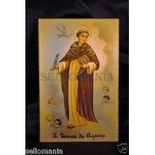 OLD POSTCARD  SANTO TOMAS DE AQUINO SAINT THOMAS AQUINAS HOLY CARD POSTAL CC0008