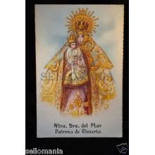 ANTIGUA POSTAL VIRGEN DEL MAR OLD VIRGIN OF THE SEA POSTCARD HOLY CARD    CC0016