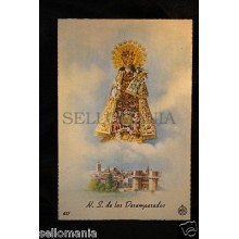 OLD POSTCARD VIRGEN DESAMPARADOS OUR LADY OF ABANDONED HOLY CARD          CC0017
