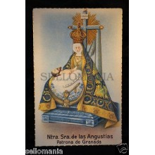 OLD POSTCARD VIRGEN DE LAS ANGUSTIAS OLD VIRGIN OF ANGUISH HOLY CARD      CC0018