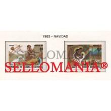 1983 NAVIDAD CHRISTMAS MUSIC INSTRUMENT 49 / 50 ** MNH GUINEA ECUATORIAL TC21938