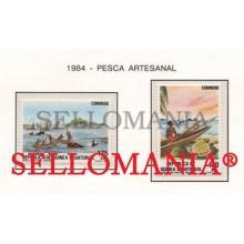1984 PESCA FISHING TURTLE TORTUGA FISH  53 / 54 ** MNH GUINEA ECUATORIAL TC21940