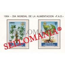 1984 ALIMENTACION PAPAYA MALANGA FOOD   55 / 56 ** MNH GUINEA ECUATORIAL TC21941
