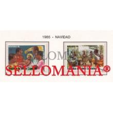 1985 NAVIDAD CHRISTMAS DANZA DANCE BIRTH 71  72 ** MNH GUINEA ECUATORIAL TC21947