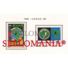 1986 UNION ESTADOS AFRICA CENTRAL STATES 85  86 ** MNH GUINEA ECUATORIAL TC21949