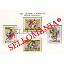1986 MUNDIAL FUTBOL MEXICO FOOTBALL CUP  81  84 ** MNH GUINEA ECUATORIAL TC21950