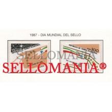 1987 DIA DEL SELLO STAMPS DAY LETTER    94 / 95 ** MNH GUINEA ECUATORIAL TC21955