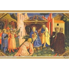 POSTAL FRAY ANGELICO FRAGMENTO DE LA ANUNCIACION PAINTING POSTCARD       TP10161