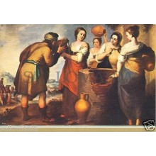 POSTAL MURILLO REBECA Y ELIECER PAINTING POSTCARD PAINTER PICTURE        TP10183